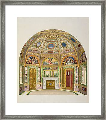 Fresco Decoration In The Summer House Framed Print by English School