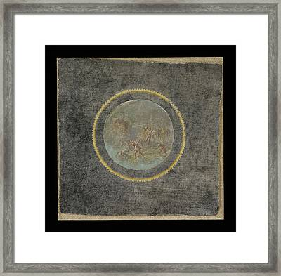 Fresco Fragment With Herakles And Hesione Unknown Italy Framed Print by Litz Collection