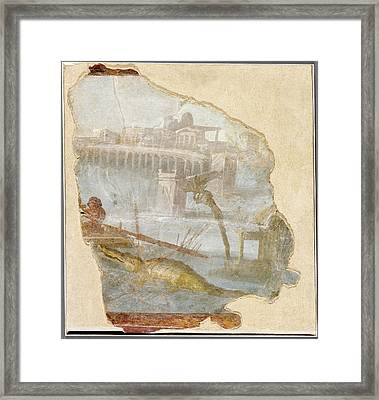 Fresco Fragment With Nilotic Landscape Unknown Italy Framed Print by Litz Collection