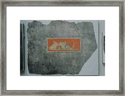 Fresco Fragment With Woman And Swan Unknown Boscoreale Framed Print by Litz Collection