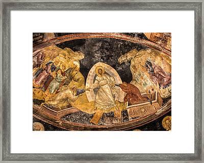 Fresco In Chora Church In Istanbul Framed Print