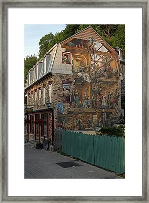 Fresco Wall Art Painting In Quebec City Framed Print by Juergen Roth