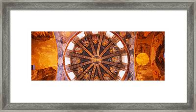 Frescos In A Church, Kariye Museum Framed Print