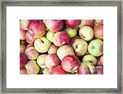 Fresh Apples Background - Can Be Used As Wallpaper Framed Print