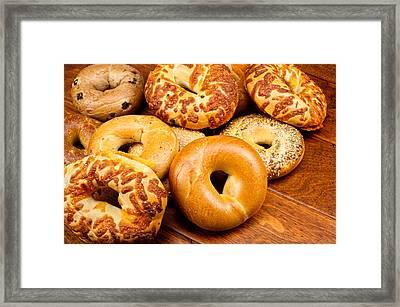 Fresh Bagels Framed Print by Joe Belanger