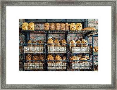 Fresh Baked Bread At Small Town Bakery  Framed Print