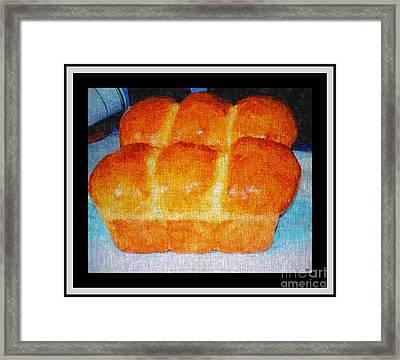 Fresh Baked Bread Three Bun Loaf Framed Print