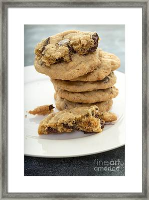 Fresh Baked Chocolate Chip Cookies Framed Print by Edward Fielding