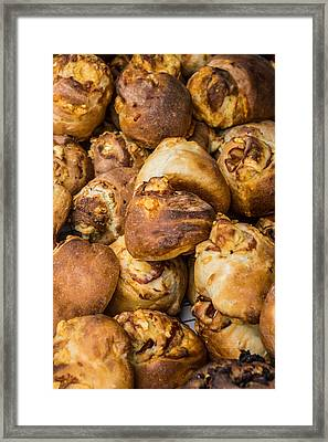 Fresh Baked Rolls Framed Print by Photographic Arts And Design Studio