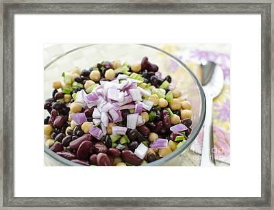 Framed Print featuring the photograph Fresh Bean Salad by Maria Janicki