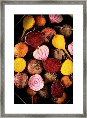 Fresh Beetroot And Red Onions Framed Print
