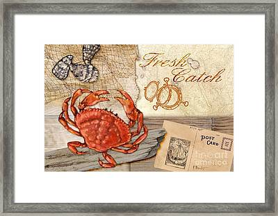 Fresh Catch Dungeness Crab Framed Print