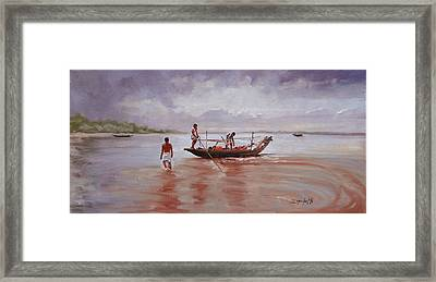 Fresh Catch Framed Print by Laura Lee Zanghetti
