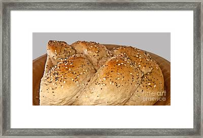 Fresh Challah Bread Art Prints Framed Print