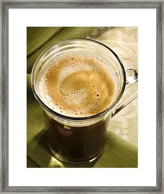 Fresh Coffee In Glassmug Framed Print by Iris Richardson