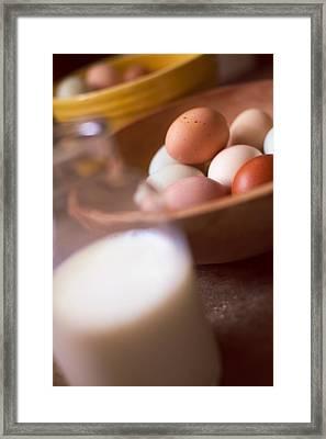 Fresh Eggs  Framed Print by Toni Hopper