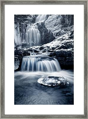 Fresh Falls At Scaleber Force Framed Print by Chris Frost
