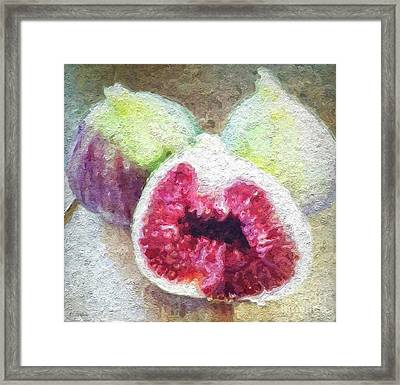 Fresh Figs Framed Print by Linda Woods