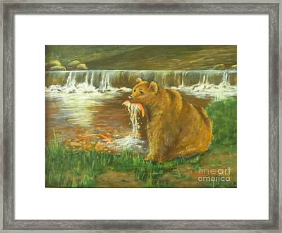 Fresh Fish Framed Print by Carolyn Kollegger