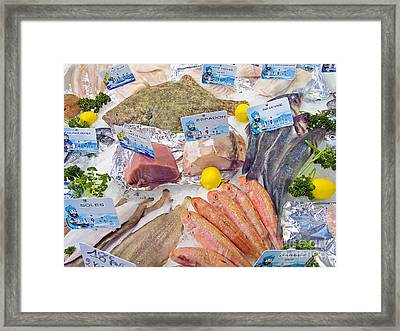 Fresh Fish Counter Display Framed Print by Martyn F. Chillmaid