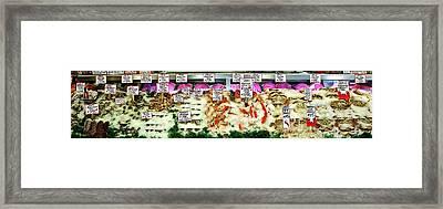 Fresh Fish Panorama Framed Print by Benjamin Yeager