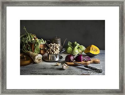 Fresh From The Field Framed Print by Elena Nosyreva