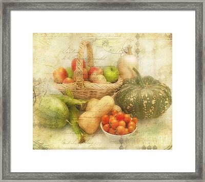 Fresh From The Garden Framed Print by Linda Lees