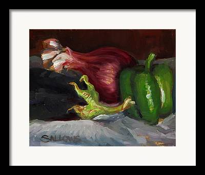 Meshed Paintings Framed Prints