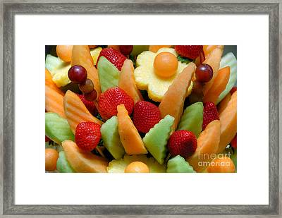 Fresh Fruit Arrangement Framed Print