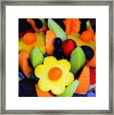 Fresh Fruit Framed Print by Kathleen Struckle