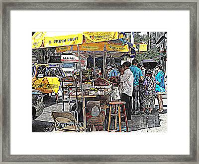 Fresh Fruit Framed Print by Miriam Danar