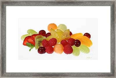 Fresh Fruit Salad Framed Print by Iris Richardson