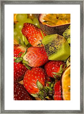 Fresh Fruit Salad Framed Print by Tomi Junger
