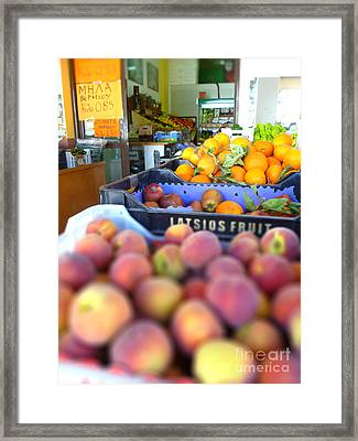Framed Print featuring the photograph Fresh Fruit by Vicki Spindler