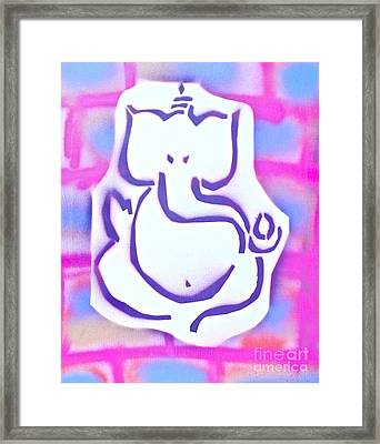 Fresh Ganesh 3 Framed Print by Tony B Conscious