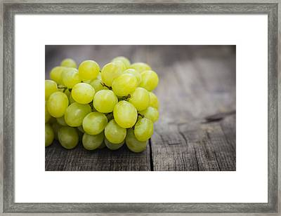 Fresh Green Grapes Framed Print by Aged Pixel