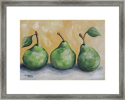 Fresh Green Pears Framed Print