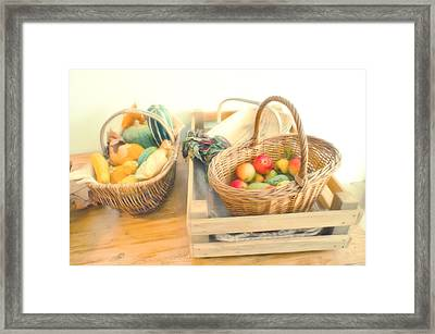 Fresh Harvest Framed Print by Tom Gowanlock