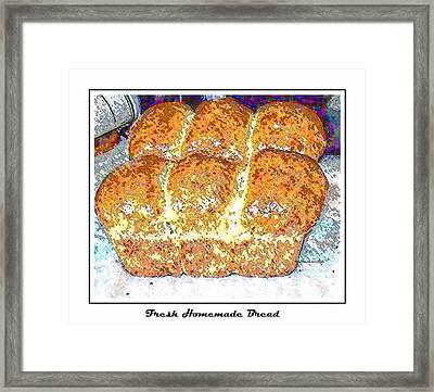 Fresh Homemade Bread 2 Framed Print by Barbara Griffin