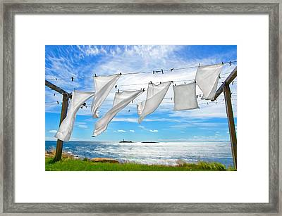 Fresh Laundry Framed Print by Donna Doherty