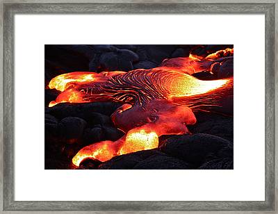 Fresh Lava Flow Framed Print by Venetia Featherstone-Witty