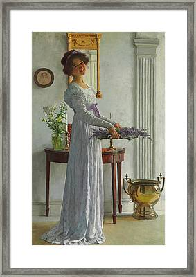 Fresh Lavender Framed Print by William Henry Margetson