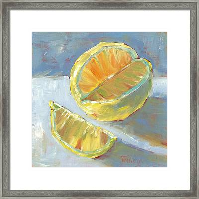 Fresh Lemons Framed Print