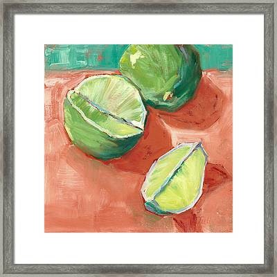 Fresh Limes Framed Print