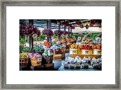 Fresh Market Framed Print by Karen Wiles