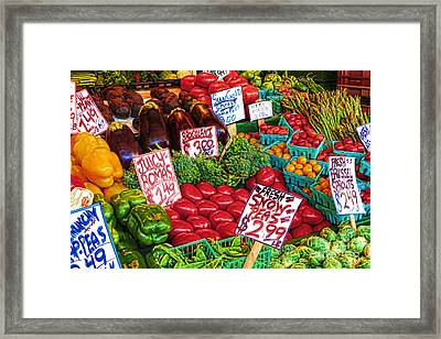 Fresh Market Vegetables Framed Print
