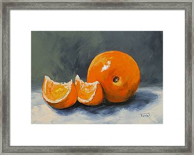 Fresh Orange IIi Framed Print