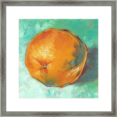 Fresh Orange Framed Print