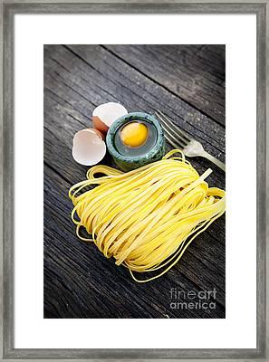 Fresh Pasta Framed Print by Mythja  Photography