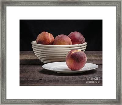 Fresh Peaches Framed Print by Edward Fielding